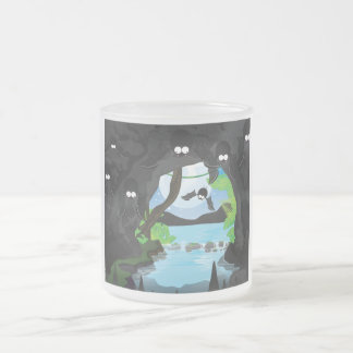 Bat Cave Frosted Glass Coffee Mug