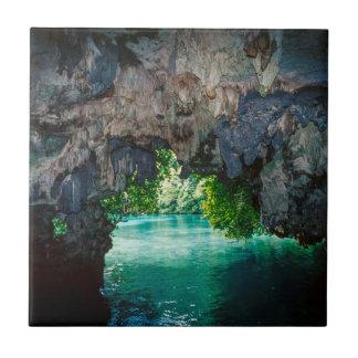 Bat Cave In Airai, Palau, Micronesia Ceramic Tile