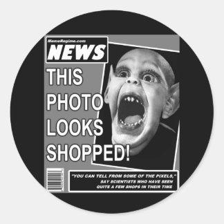 Bat Child Chicanery Classic Round Sticker
