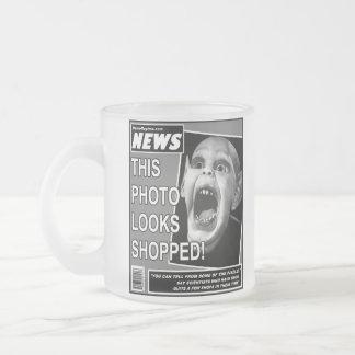 Bat Child Chicanery Frosted Glass Coffee Mug