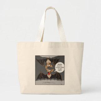 Bat Comedy Large Tote Bag