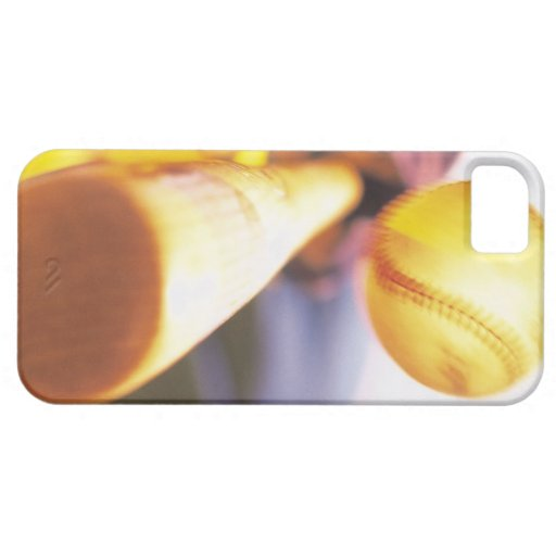 Bat contacting baseball iPhone 5 cover