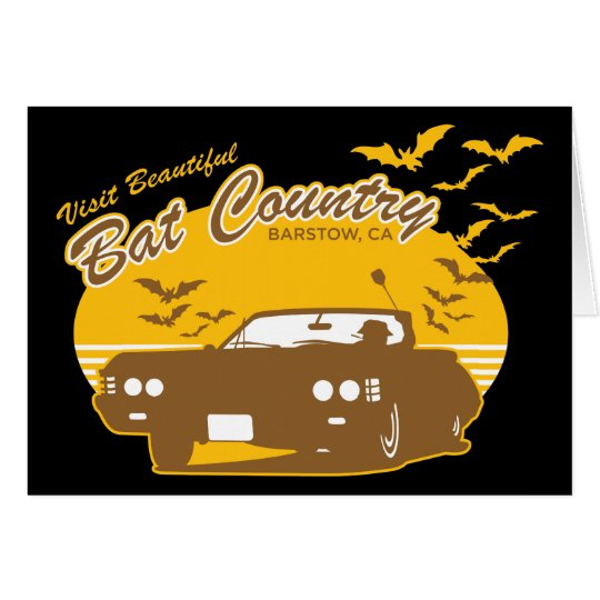 Bat Country - we can't stop here Card