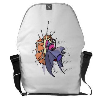 Bat Crashing Into Wall Courier Bag