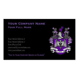 Bat Crest Purple - Business Card (Customize)