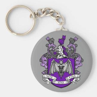 Bat Crest Purple - Keychain
