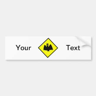 Bat Crossing Halloween Sign Car Bumper Sticker