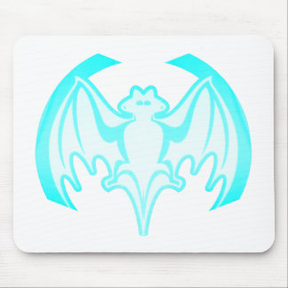 Bat Cyan Inv The MUSEUM Zazzle Gifts Mouse Pad