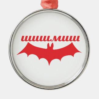 bat cyrillic metal ornament