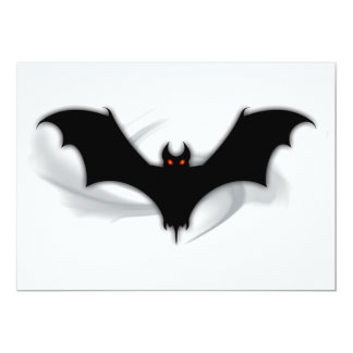 "Bat Demon 5"" X 7"" Invitation Card"