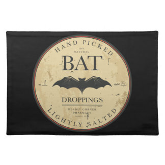 Bat Droppings Vintage Halloween Label Cloth Placemat