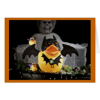 Bat Duckies Protect and Defend Greeting Card