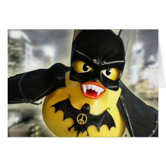 Bat Ducky Rules! Greeting Cards