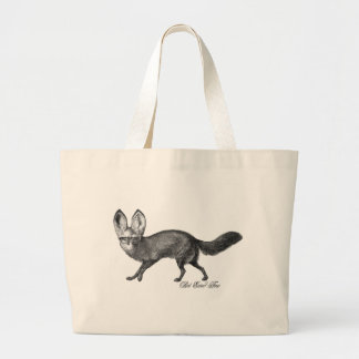 Bat eared fox large tote bag
