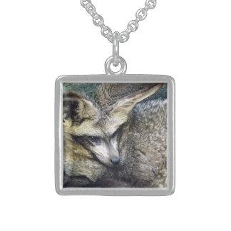 Bat Eared Fox Photo Closeup Kansas City Zoo Square Pendant Necklace