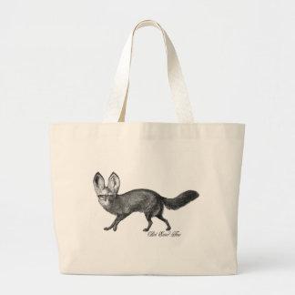 Bat eared fox tote bags