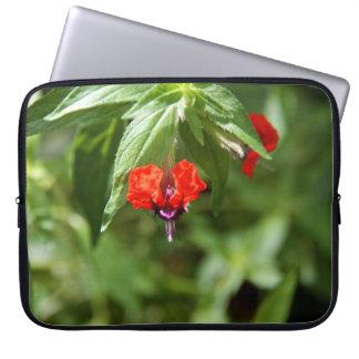 Bat Face Flower Neoprene Laptop Sleeve