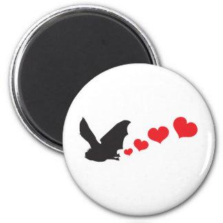 Bat farts Hearts 2 Inch Round Magnet