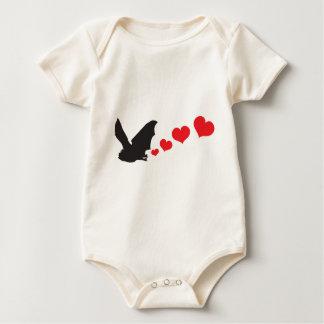 Bat farts Hearts Baby Bodysuit