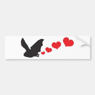 Bat farts Hearts Car Bumper Sticker