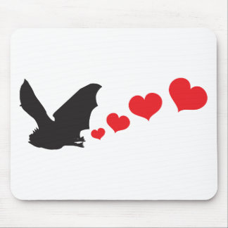 Bat farts Hearts Mouse Pad