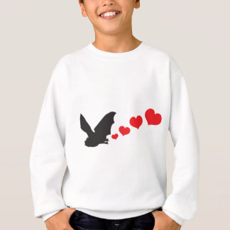 Bat farts Hearts Sweatshirt