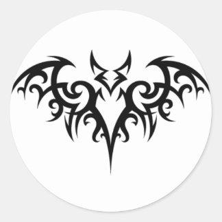 Bat Fer Brains Round Stickers