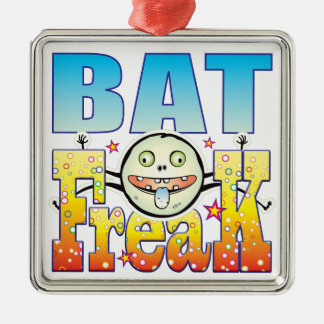 Bat Freaky Freak Silver-Colored Square Decoration
