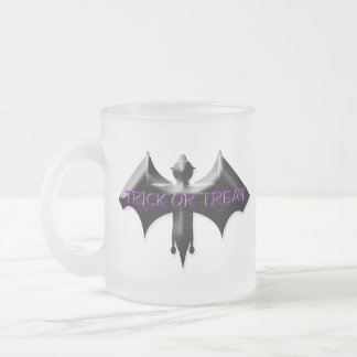 Bat Frosted Glass Coffee Mug