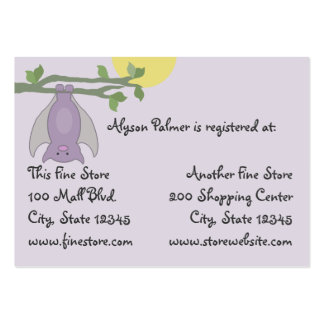 Bat Full Moon baby shower Business Cards