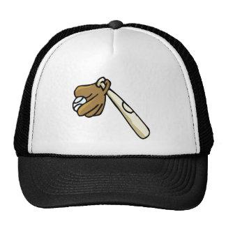 Bat Glove & Ball Mesh Hat
