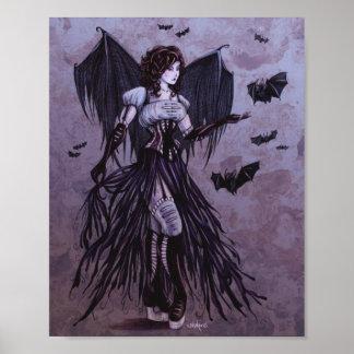 Bat Goddess Fantasy Art 8x10 Print