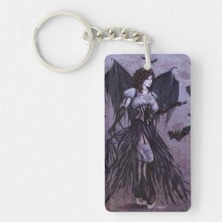 Bat Goddess Fantasy Art - Keychain