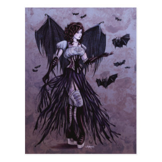 Bat Goddess Fantasy Art Postcard