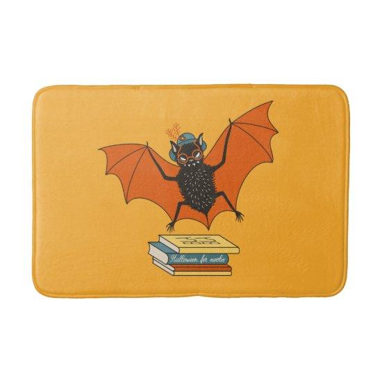 Bat Granny Librarian Cute Book Lover Bath Mat
