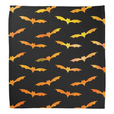Halloween Themed Bat Halloween Bandana Orange Black