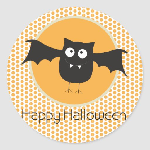 Bat Halloween Cupcake Toppers/Stickers