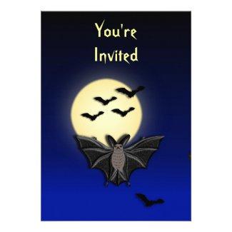 Bat Halloween Invitation