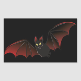 Bat Halloween Nice Rectangular Sticker