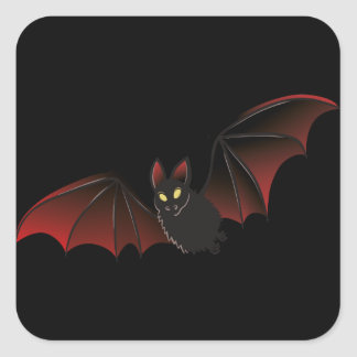 Bat Halloween Nice Square Sticker