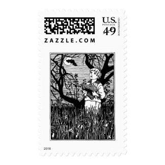 Bat, Hat and Boy Nursery Rhyme Stamps