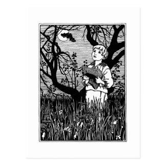 Bat, Hat and Boy Nursery Rhyme Postcards