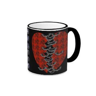 Bat Heart Ringer Mug
