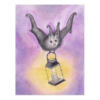 Bat Holding a Lantern Postcard