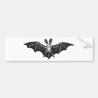 Bat illustration bumper sticker