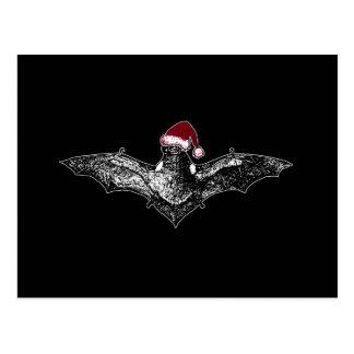 Bat in a Santa Hat Postcard