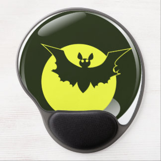 Bat in front of yellow moon gel mouse pad