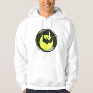 Bat in front of yellow moon hoodie