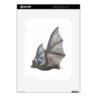 Bat In Side Profile with Wings in Upstroke Decals For iPad 2