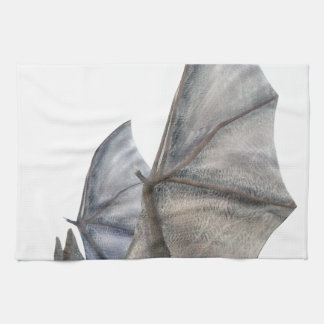 Bat In Side Profile with Wings in Upstroke Hand Towel